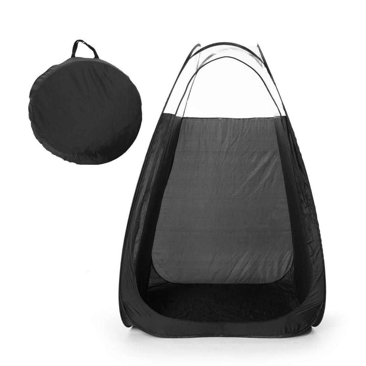 Black Pop-Up Spray Tanning Tent