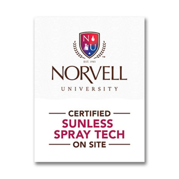 "Norvell University ""Certified Tech On-Site"" Window Cling"