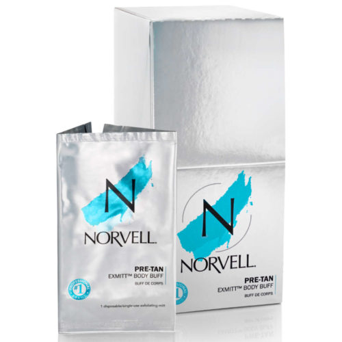 Norvell eXmitt Exfoliating Mitt and Display
