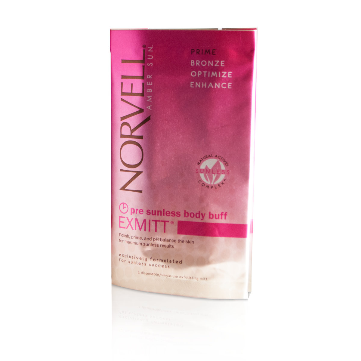 Norvell eXmitt® Exfoliating Mitt - Pre Tan Body Buff & Polish for Face & Body