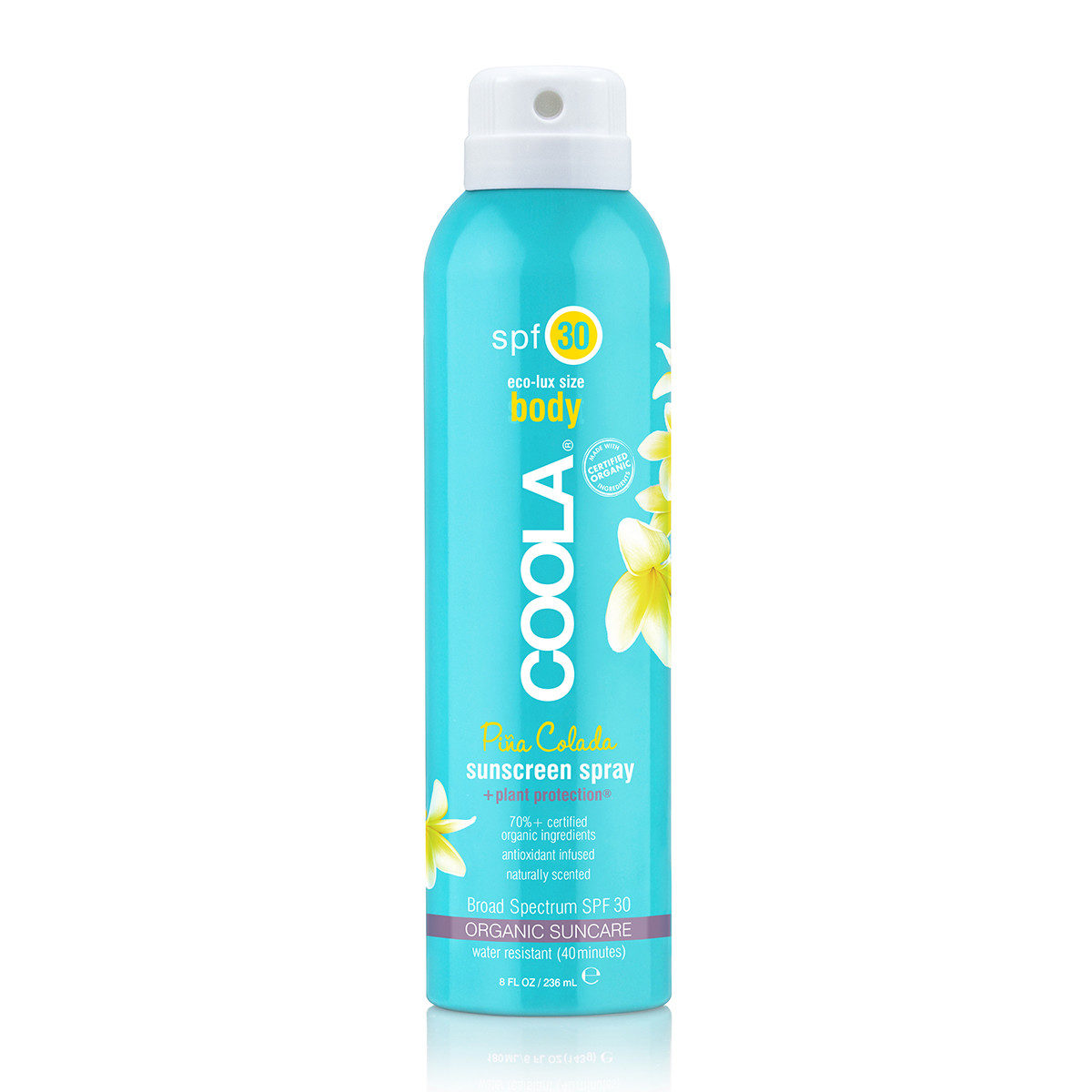 COOLA eco-lux Body SPF30 Pina Colada Sunscreen Spray 8oz