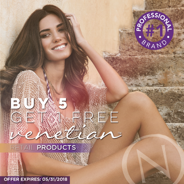 Buy 5 Get 1 Free Venetian Retail Products