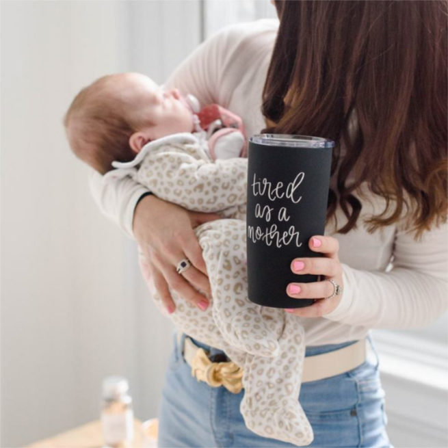 Sweet Water Decor Tired As A Mother Metal Travel Mug